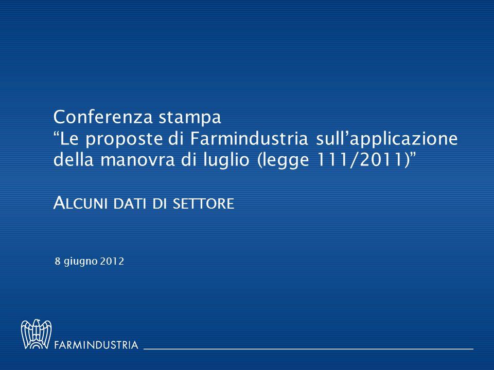 Conferenza stampa Le proposte di Farmindustria sull'applicazione della manovra di luglio (legge 111/2011)