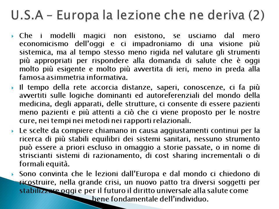 U.S.A – Europa la lezione che ne deriva (2)