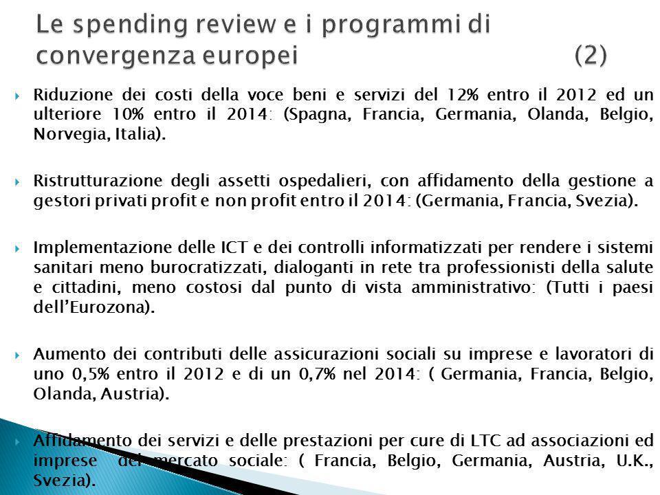 Le spending review e i programmi di convergenza europei (2)