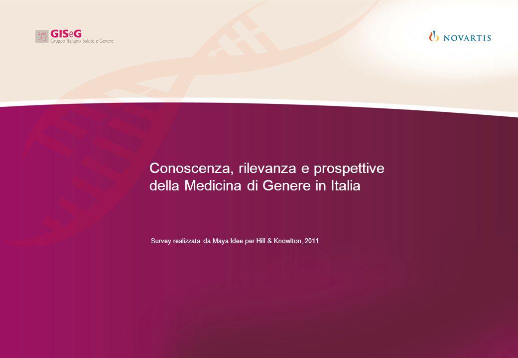 Conoscenza, rilevanza e prospettive della Medicina di Genere in Italia