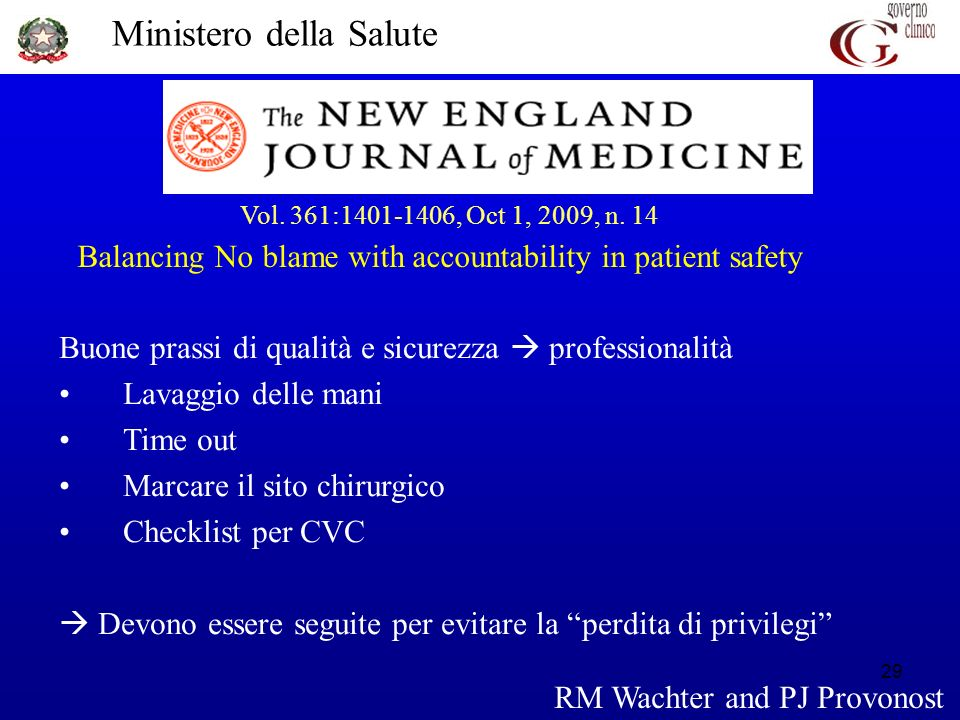 Balancing No blame with accountability in patient safety