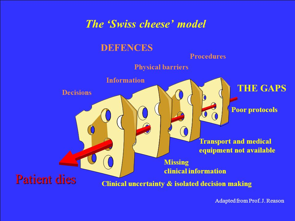 The 'Swiss cheese' model