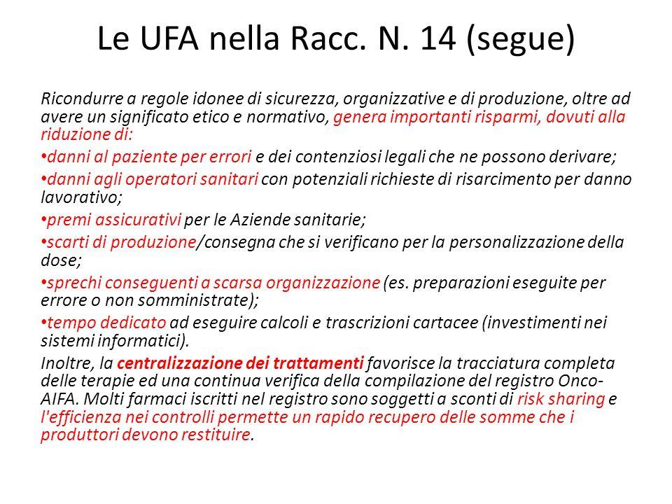 Le UFA nella Racc. N. 14 (segue)