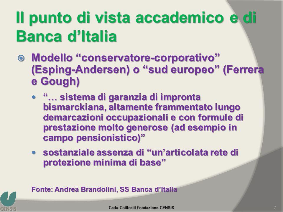 Il punto di vista accademico e di Banca d'Italia