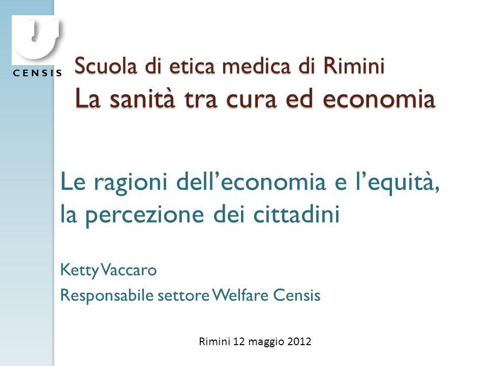 Scuola di etica medica di Rimini La sanità tra cura ed economia