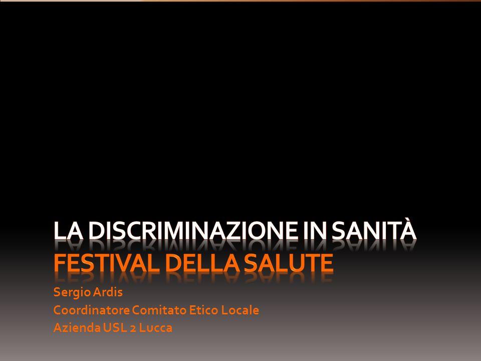 La discriminazione in sanità festival della salute