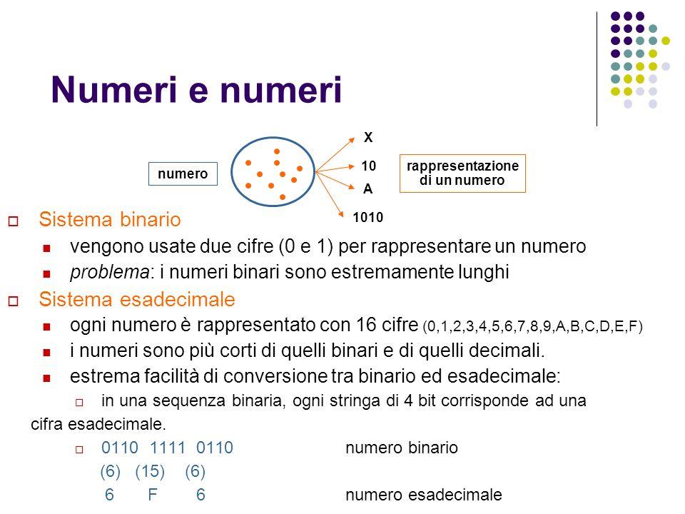rappresentazione di un numero