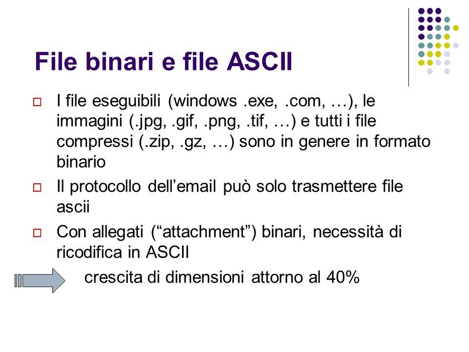 File binari e file ASCII