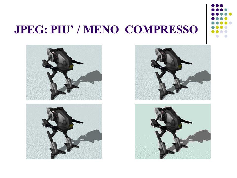 JPEG: PIU' / MENO COMPRESSO