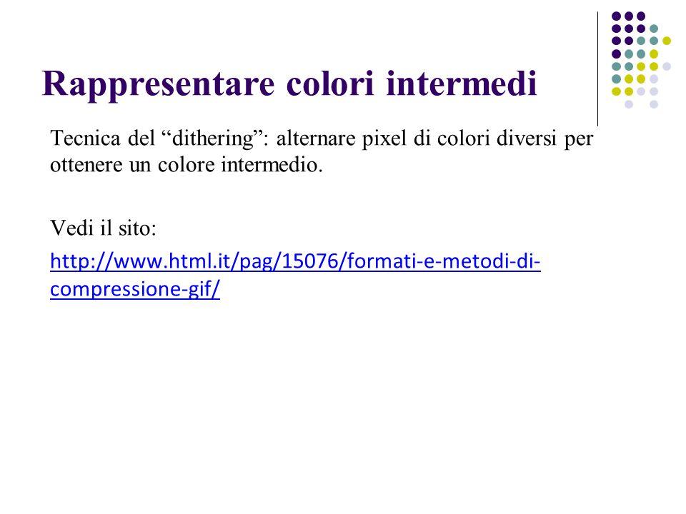 Rappresentare colori intermedi