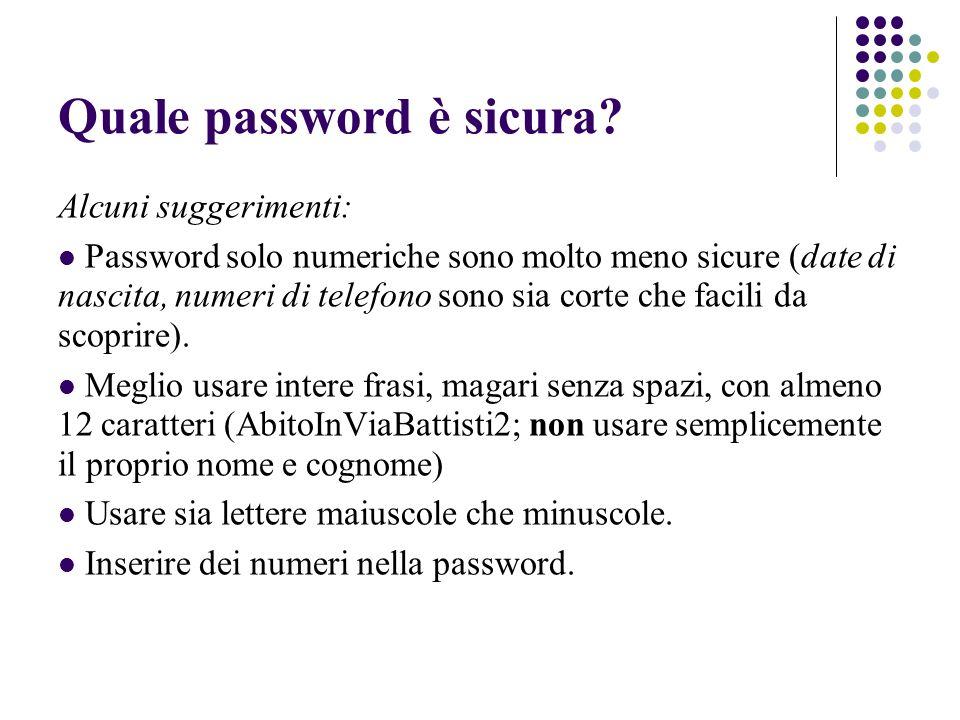 Quale password è sicura