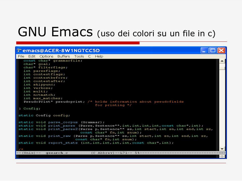GNU Emacs (uso dei colori su un file in c)