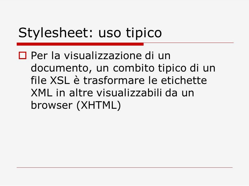 Stylesheet: uso tipico