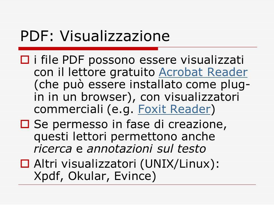 PDF: Visualizzazione