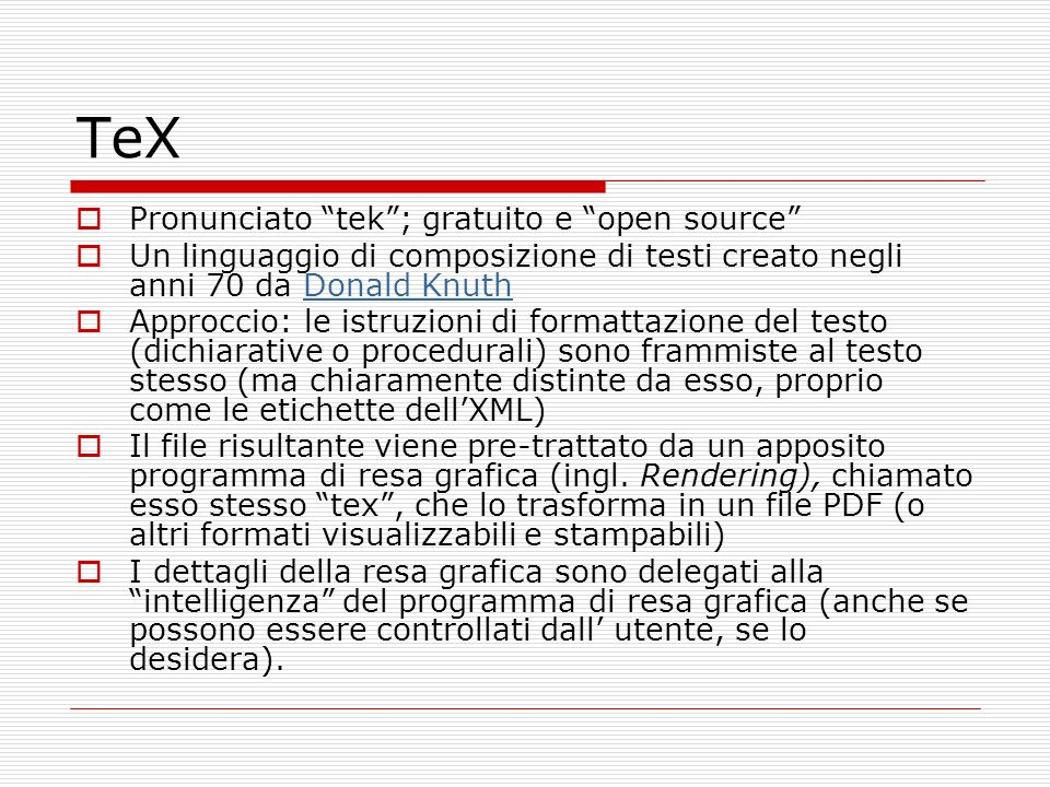TeX Pronunciato tek ; gratuito e open source
