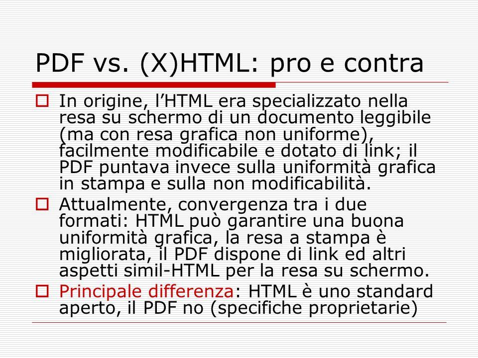 PDF vs. (X)HTML: pro e contra