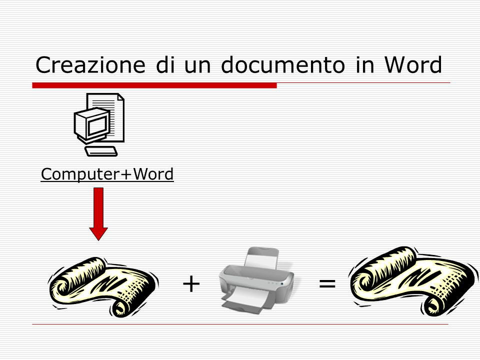 Creazione di un documento in Word