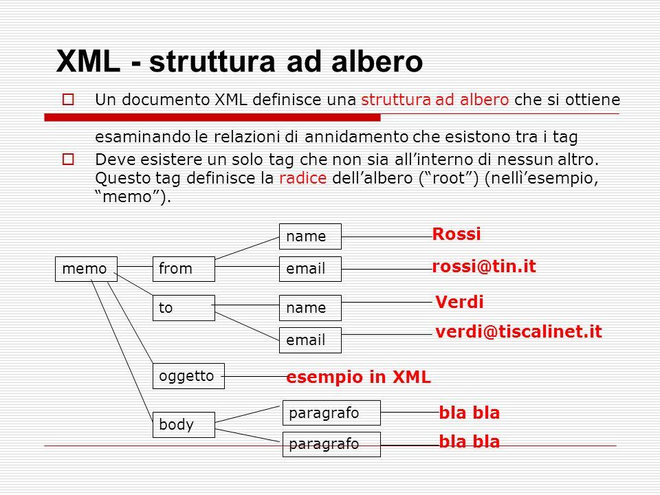 XML - struttura ad albero