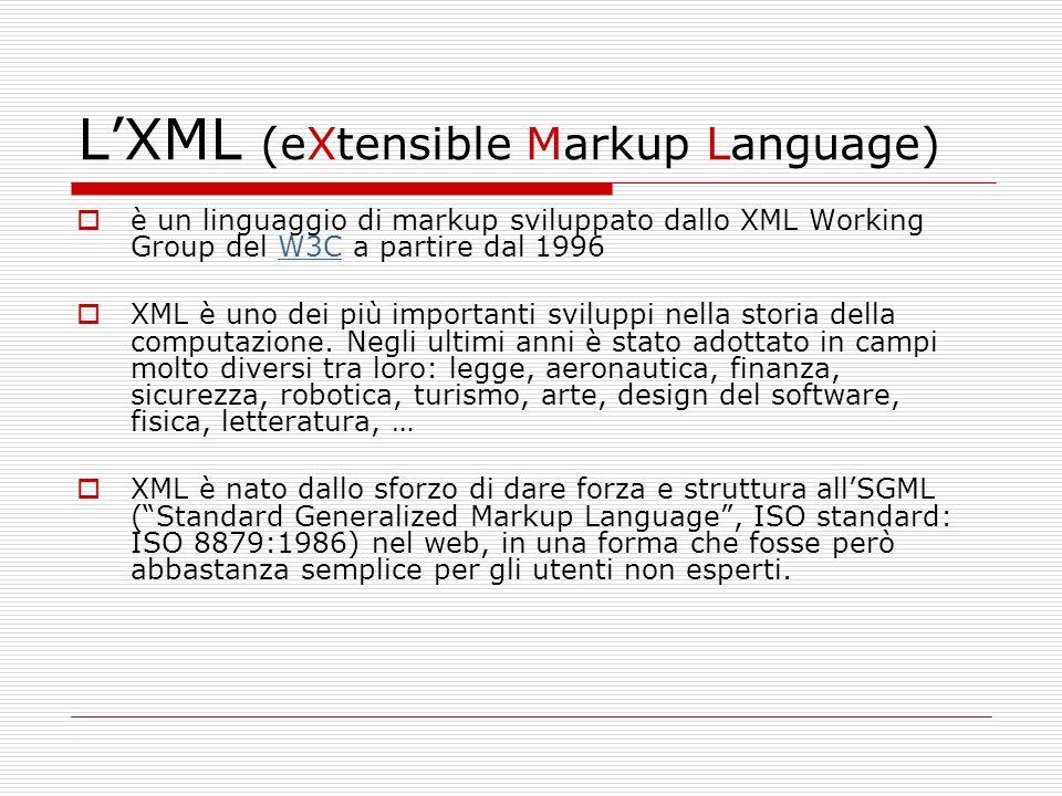 L'XML (eXtensible Markup Language)