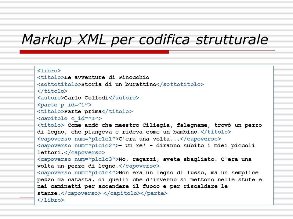 Markup XML per codifica strutturale