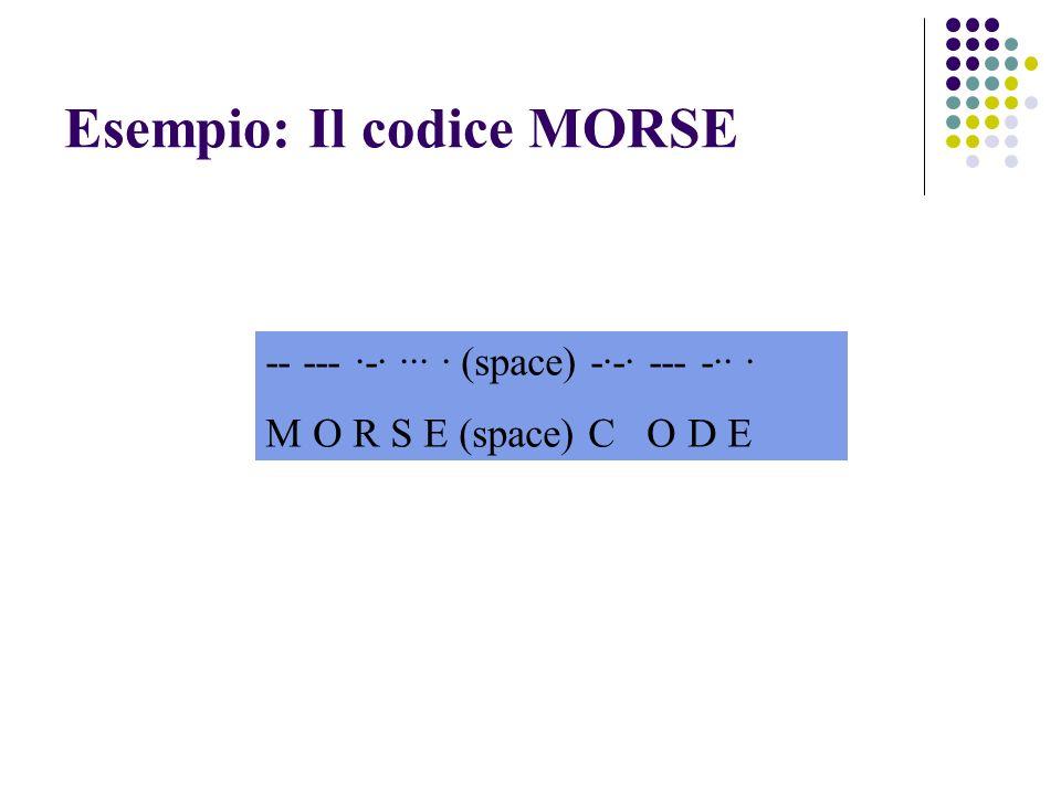 Esempio: Il codice MORSE
