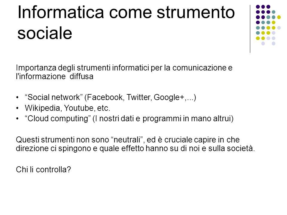 Informatica come strumento sociale