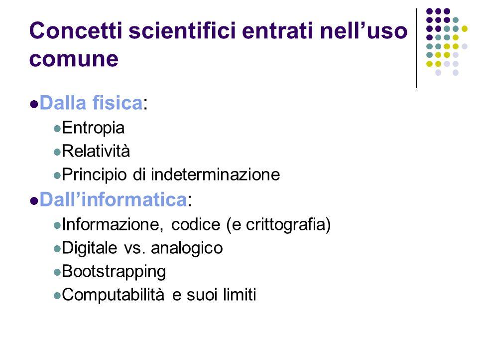 Concetti scientifici entrati nell'uso comune