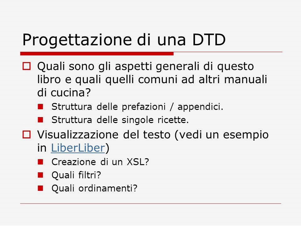 Progettazione di una DTD