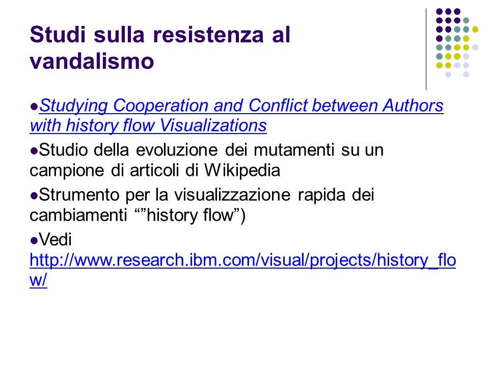Studi sulla resistenza al vandalismo