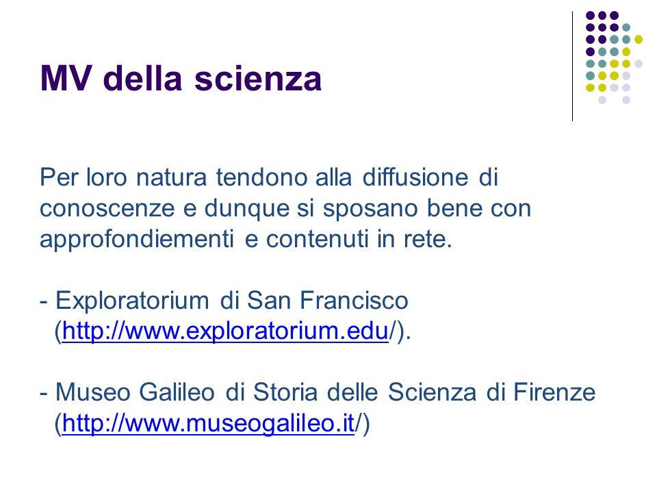 MV della scienza