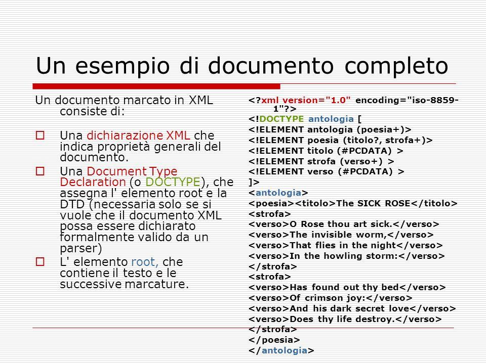 Un esempio di documento completo
