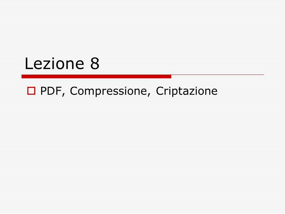 PDF, Compressione, Criptazione