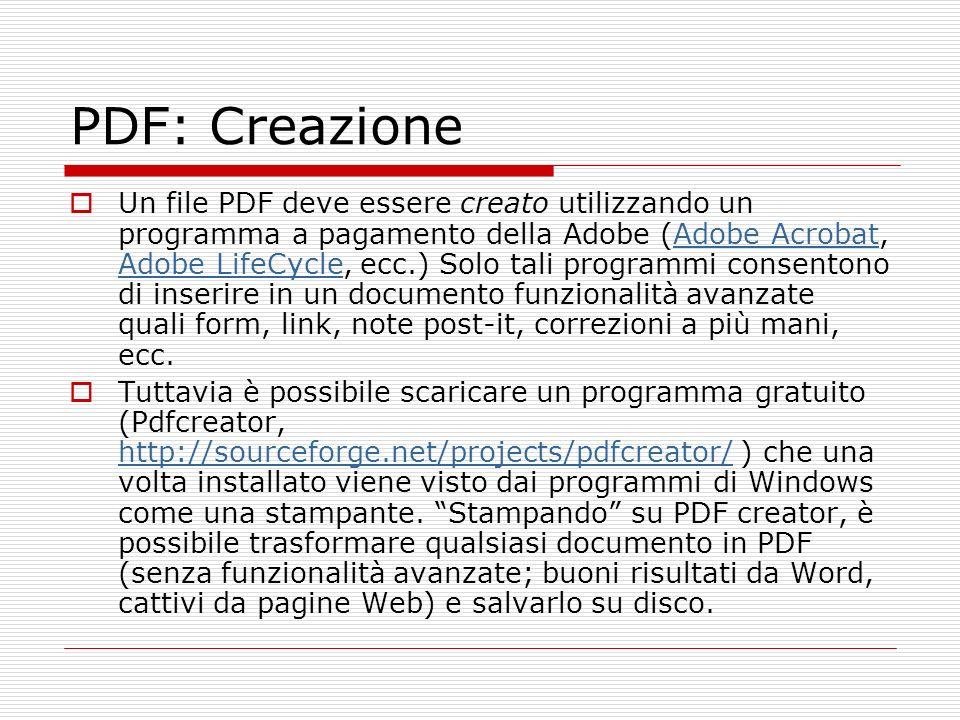 PDF: Creazione