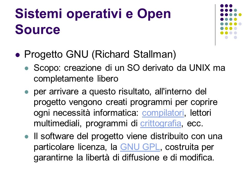 Sistemi operativi e Open Source