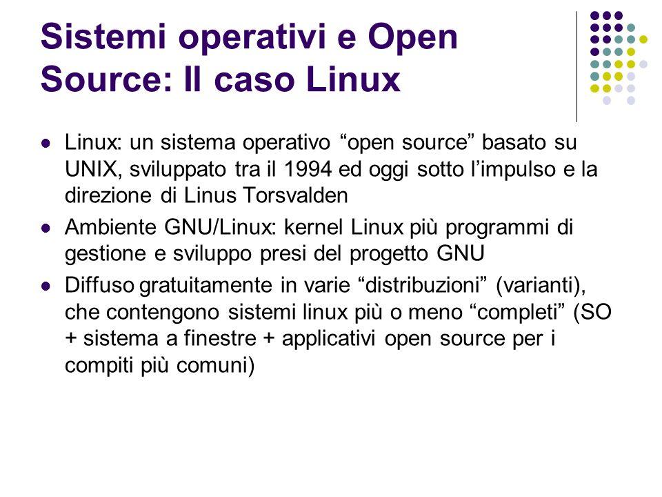 Sistemi operativi e Open Source: Il caso Linux