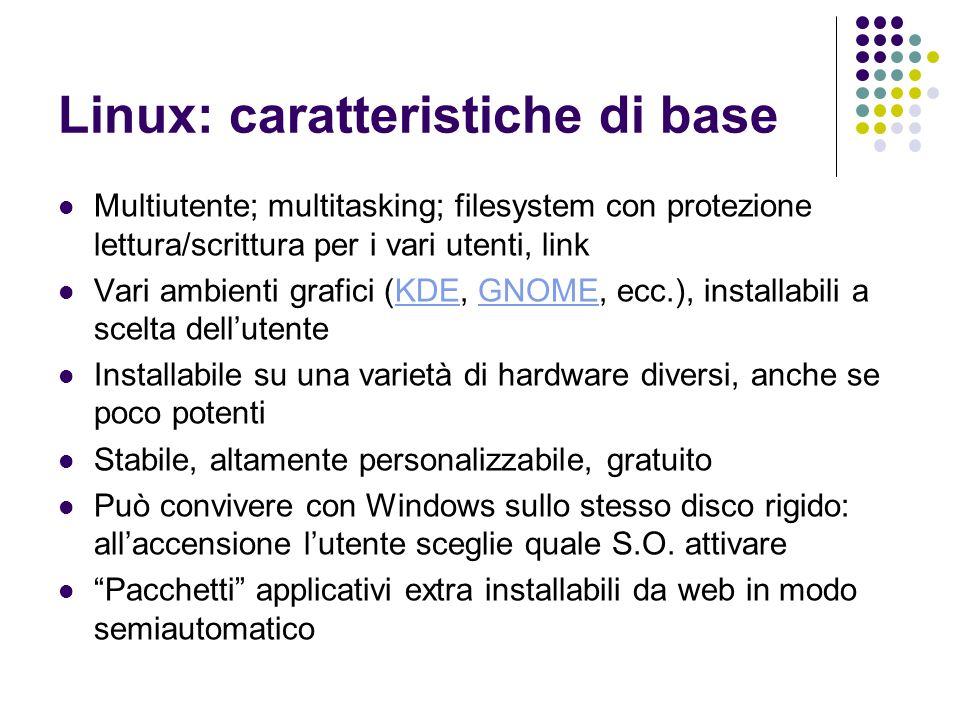Linux: caratteristiche di base