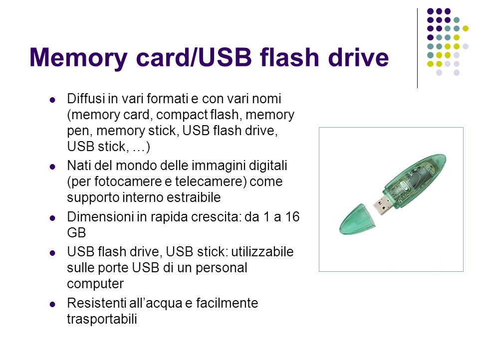 Memory card/USB flash drive