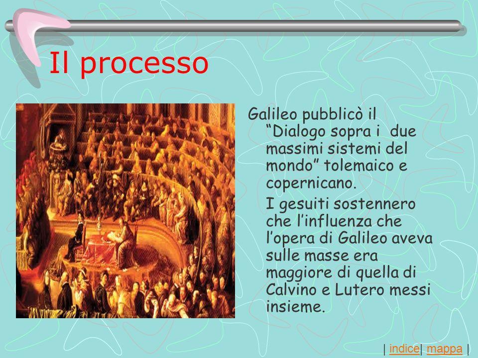 Il processoGalileo pubblicò il Dialogo sopra i due massimi sistemi del mondo tolemaico e copernicano.