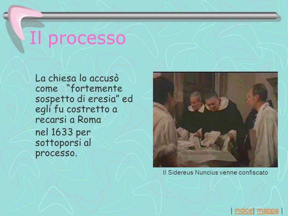 Il processoLa chiesa lo accusò come fortemente sospetto di eresia ed egli fu costretto a recarsi a Roma.