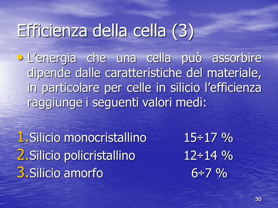 Efficienza della cella (3)
