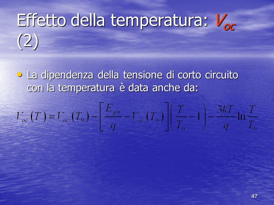 Effetto della temperatura: Voc (2)