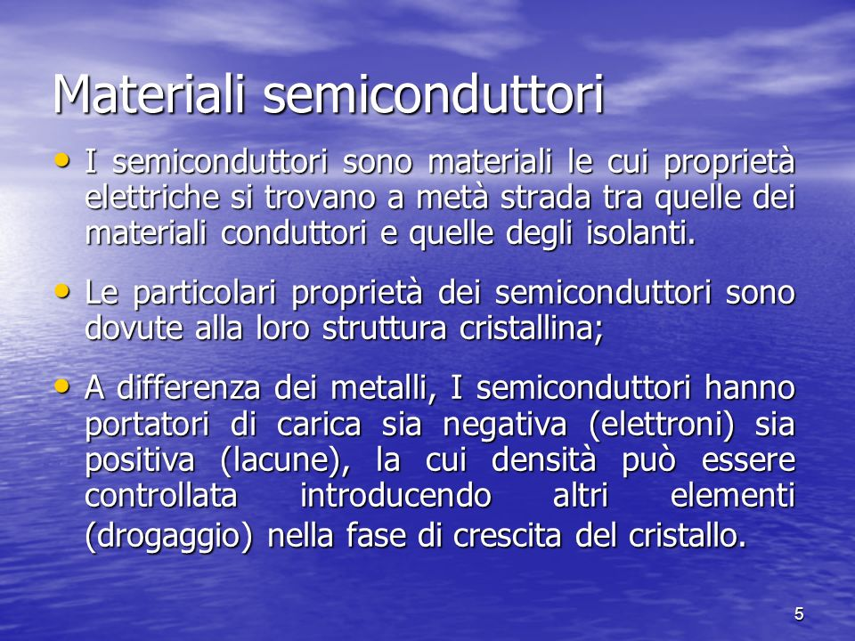 Materiali semiconduttori