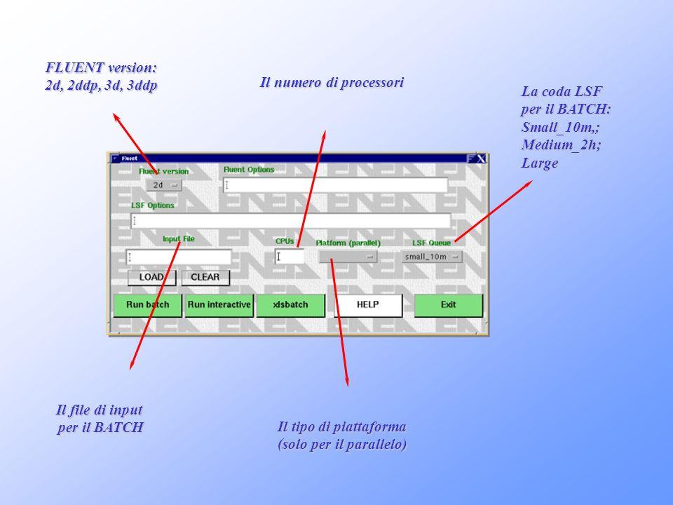 Il numero di processori (solo per il parallelo)