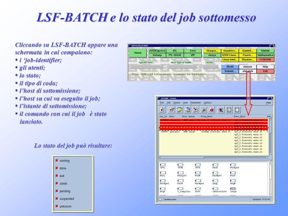 LSF-BATCH e lo stato del job sottomesso