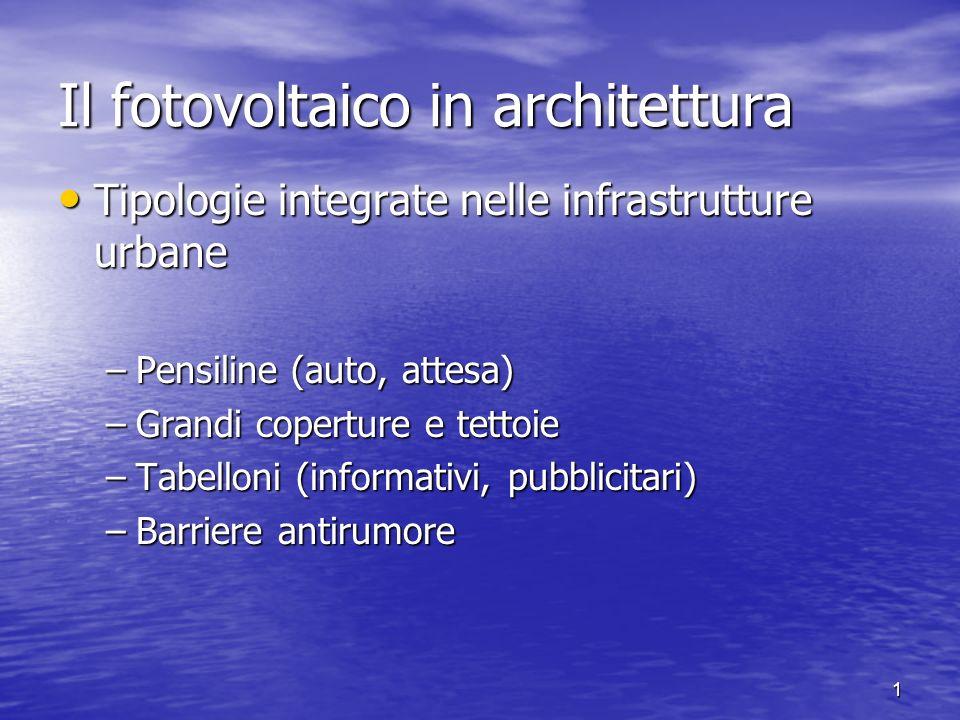 Il fotovoltaico in architettura