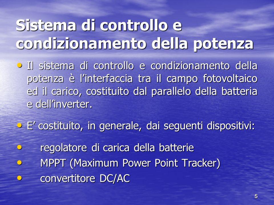 Sistema di controllo e condizionamento della potenza