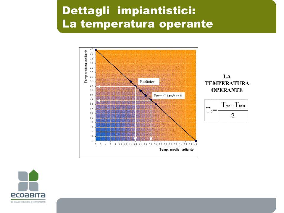Dettagli impiantistici: La temperatura operante