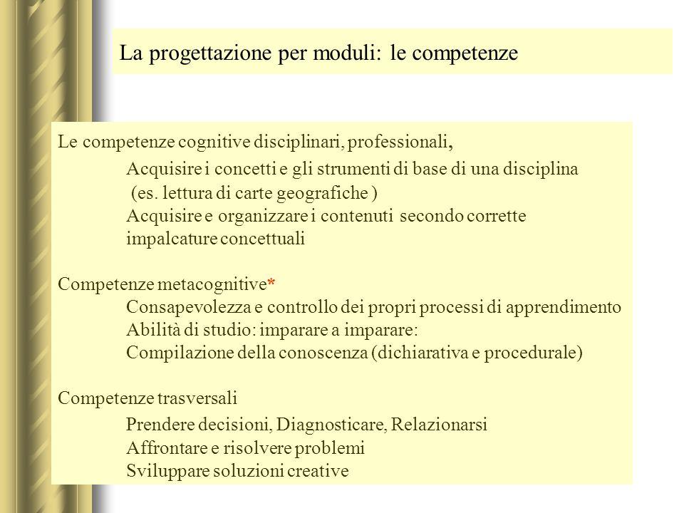 La progettazione per moduli: le competenze