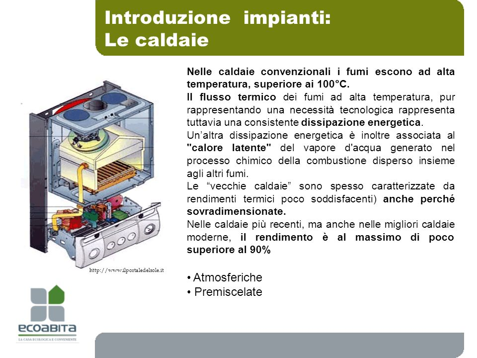 Introduzione impianti: Le caldaie