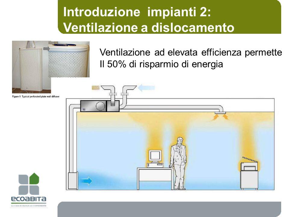 Introduzione impianti 2: Ventilazione a dislocamento
